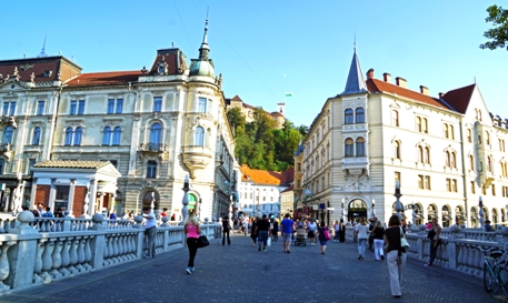 Ljubljana Innenstadt - Slowenien Reisen