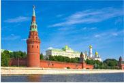 Der Kreml vom Schiff aus