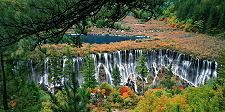 Jiuzhaigou Wasserfall