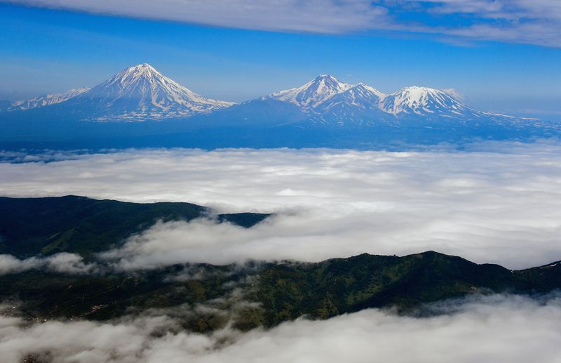 Kamtschatka Reise - Berge Kamtschatkas