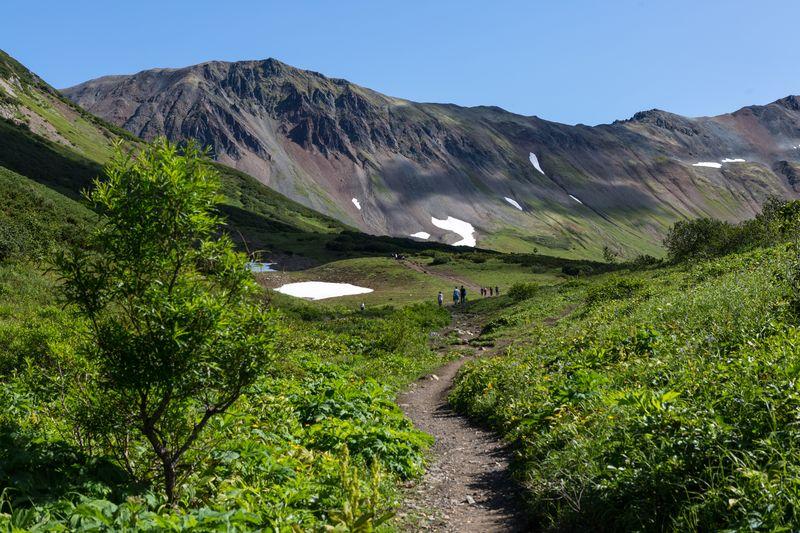 Kamtschatka Reise - Bergmassiv Watchkashez Kamtschatka