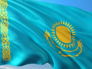 Kasachstan Reisen - Die Flagge