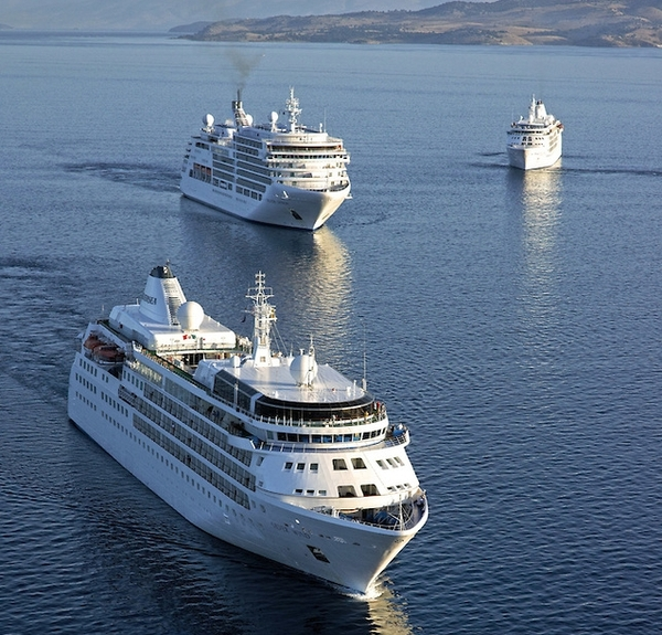 Silversea Cruises auf hoher See