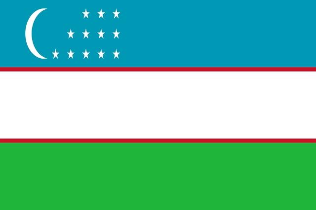 Flagge von Usbekistan